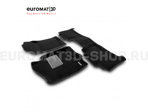 Текстильные 3D коврики Euromat3D Business в салон для Cadillac Escalade (2007-2014) № EMC3D-001302
