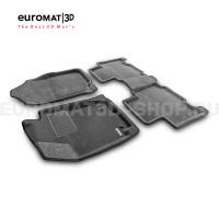 Текстильные 3D коврики Euromat3D Business в салон для Toyota Rav 4 (2013-2019) № EMC3D-005125G Серые
