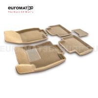Текстильные 3D коврики Euromat3D Business в салон для Nissan X-Trail (T32) (2015-) № EMC3D-003724T Бежевые