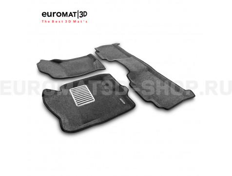 Текстильные 3D коврики Euromat3D Lux в салон для Cadillac Escalade (2007-2014) № EM3D-001302G Серые
